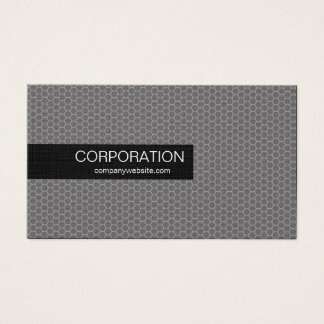 Silver honeycomb unique standard business cards