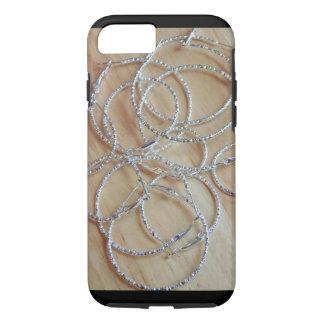 Silver Hoop Earrings Apple iPhone Case