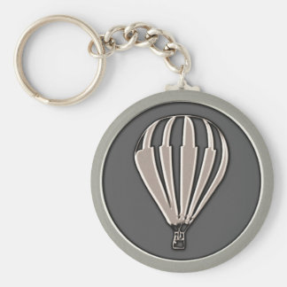 Silver Hot Air Balloon Keychain