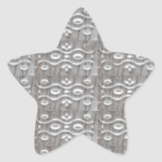 Silver Jewel Strings FUN Art NVN169 NavinJOSHI LUV Star Stickers