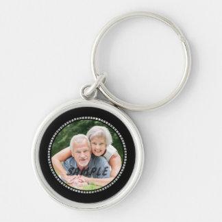 Silver Jewel Wedding Anniversary Silver-Colored Round Keychain
