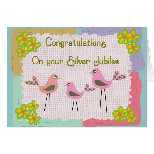 Silver Jubilee Card For Nuns