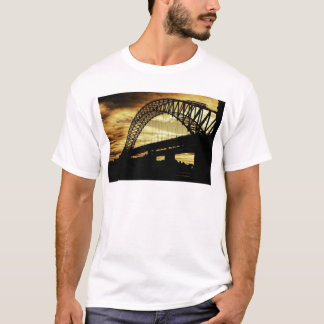 Silver Jubilee Suspension Bridge Silhouette Sunset T-Shirt