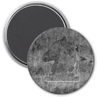 Silver Knight - Zero Gravity Chess (Metal E) 3 Inch Round Magnet