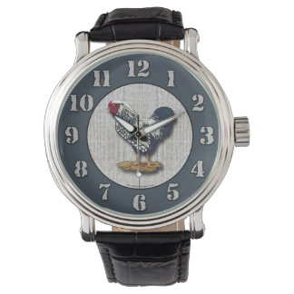 Silver Laced Wyandotte Rooster Barnboards Watch