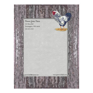 Silver Laced Wyandotte Rooster Letterhead