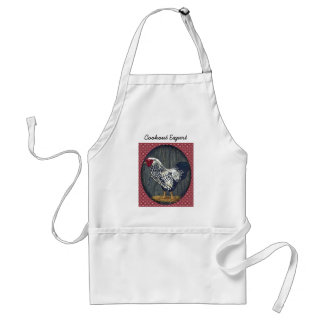 Silver Laced Wyandotte Rooster Standard Apron