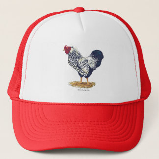 Silver Laced Wyandotte Rooster Trucker Hat