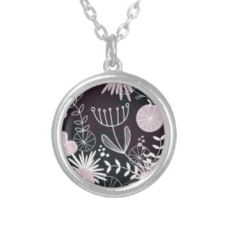 "Silver ladies ""Necklace"" Black and silver Silver Plated Necklace"