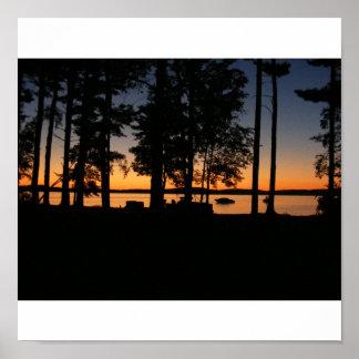 silver lake sun set poster
