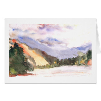 Silver Lake with snow, a depth of love Greeting Card