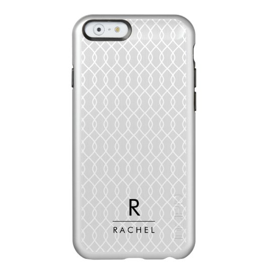 Silver Lattice | Modern Monogram Incipio Feather® Shine iPhone 6 Case