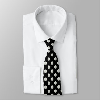 Silver leaf photo polka dots tie
