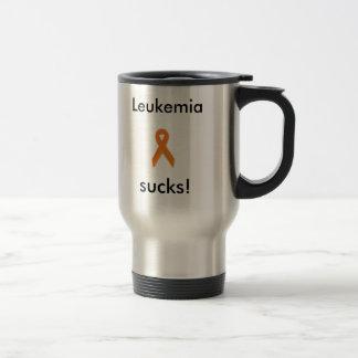 silver, Leukemia sucks! travel mug.. Travel Mug