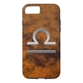 silver libra - brown iPhone 7 case