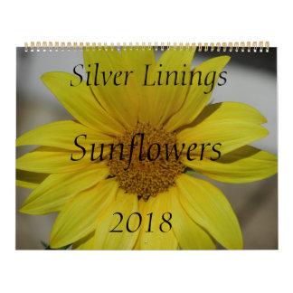 Silver Linings Sunflowers Calendar - Large
