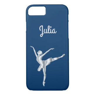 Silver look ballerina in Midnight Blue iPhone 8/7 Case