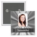 Silver look photo template