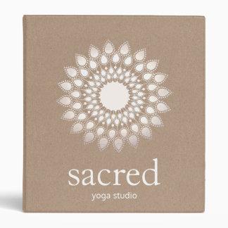 Silver Lotus Mandala Yoga and Meditation 3 Ring Binders