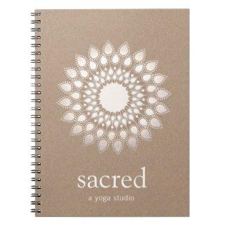 Silver Lotus Mandala Yoga and Meditation Teacher Notebooks