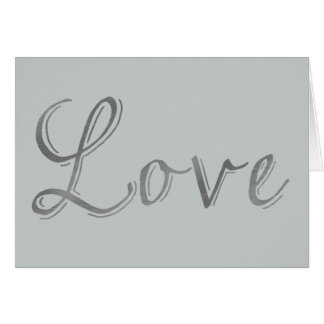 Silver Love Greeting Card