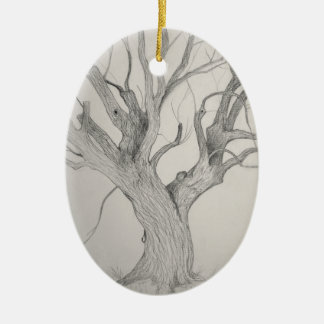 Silver Maple Ceramic Ornament