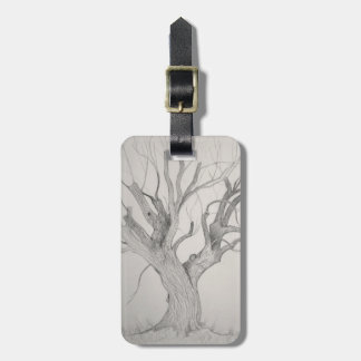 Silver Maple Tree Luggage Tag