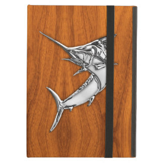 Silver Marlin on Teak Wood Decor iPad Air Cases