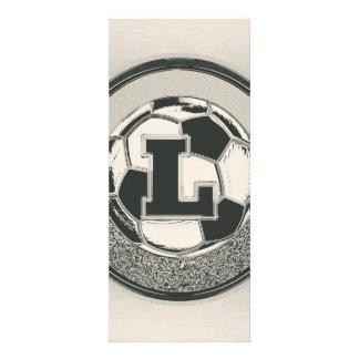 Silver Medal Soccer Monogram Letter L Custom Invite