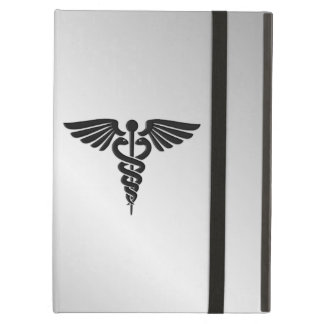 Silver Medical Caduceus iPad Air Cover