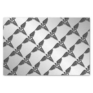 Silver Medical Caduceus Tissue Paper