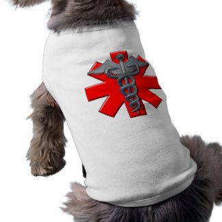Silver Medical Profession Symbol Doggie Tee Shirt