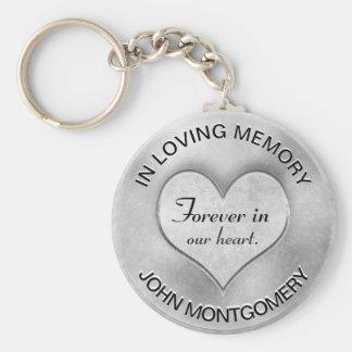 Silver Memorial Heart Keychain