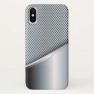 Silver Mesh iPhone X Case