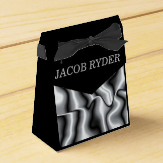 Silver Metal Collection Favor Bag Favor Box
