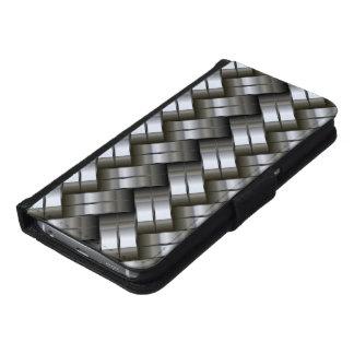 Silver Metal Gray Galaxy S6 Wallet Case