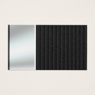 Silver Metal Look On Carbon Fiber Business Cards