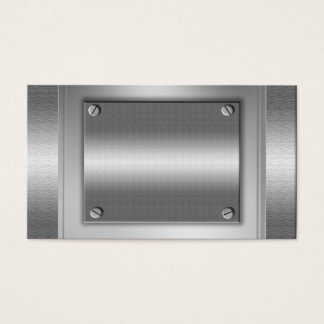 Silver Metal Look Plates Business Cards