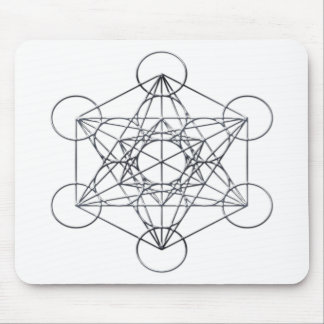Silver Metal Metatron's Cube Mouse Pad
