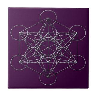 Silver Metal Metatron's Cube Tile