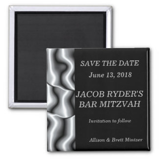 Silver Metal Save the Date Magnet