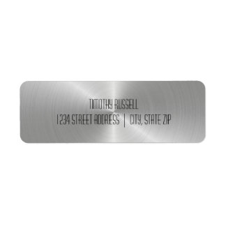 Silver Metal Shine - Address Labels