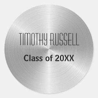 Silver Metal Shine - Graduation Sticker