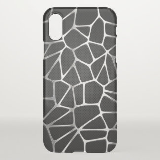 Silver Metal Web Abstract | iPhone X Case