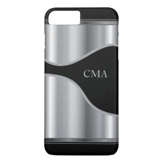 Silver Metallic and Black | Monogram iPhone 8 Plus/7 Plus Case