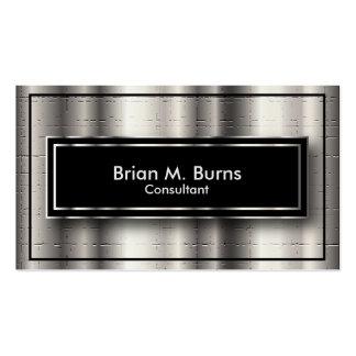 Silver Metallic Crackles & Black Pack Of Standard Business Cards