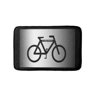Silver Metallic Cycling Bath Mats
