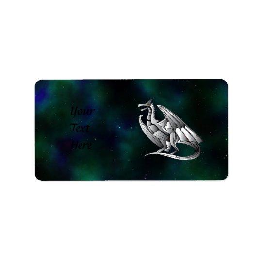 Silver Metallic Dragon