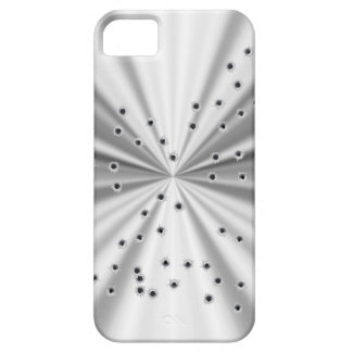 Silver metallic look & bullet holes iPhone 5 case