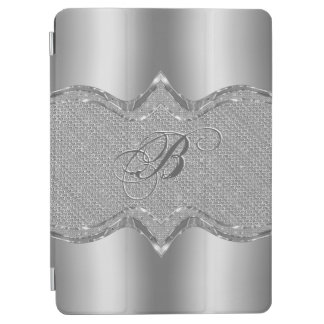 Silver Metallic Look With Diamonds Pattern 2 iPad Air Cover